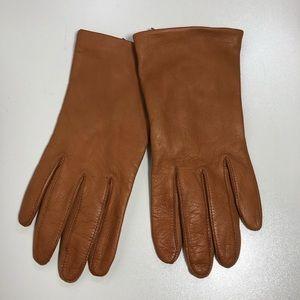 Nordstrom Women Lambskin Leather Silk Lined Gloves
